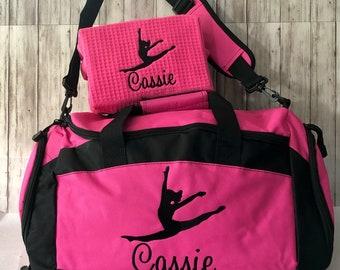 Personalised Name Gym Bag Children/'s Gymnastic Bags Gym Bags Custom Girls Sport