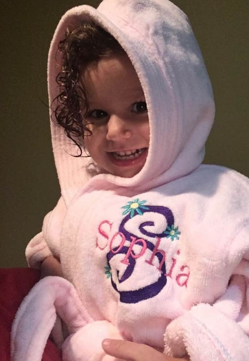 Girl s Bathrobe personalized monogrammed Robe  Toddler  c0aed64a1