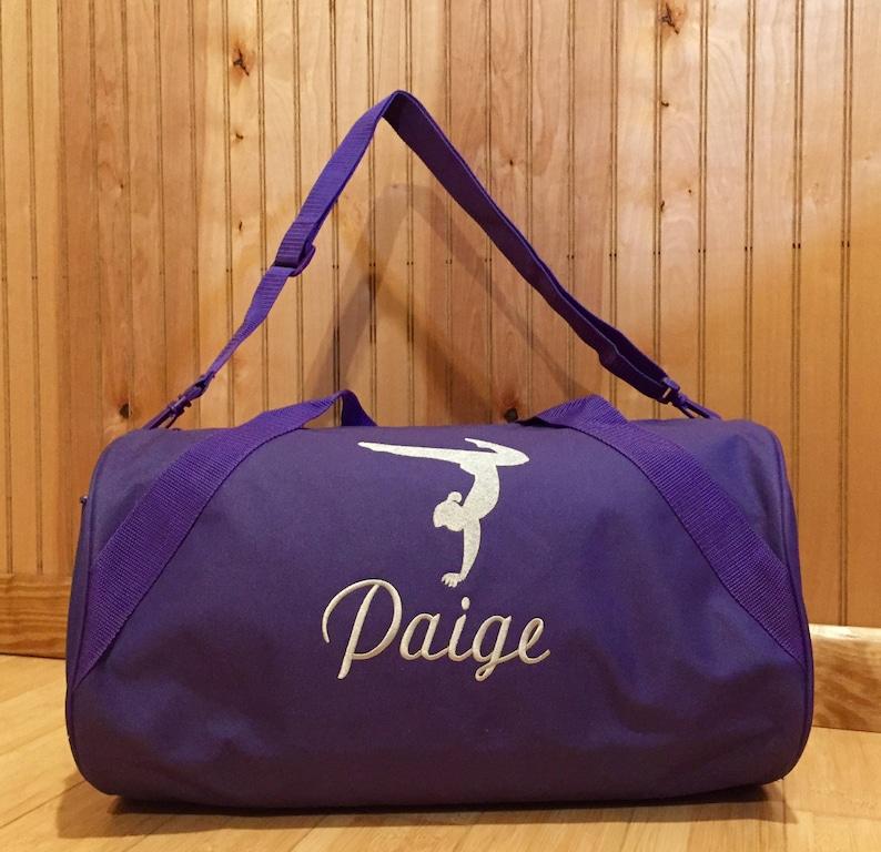 Dance or Gymnastics Duffle Bag Girls Personalized Duffle bag  b115bbc4c3abe