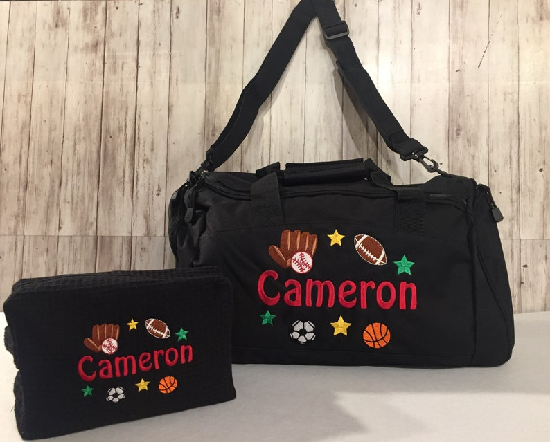dff9125680 Duffle bag Personalized Sports Duffle Bag Personalized Kids