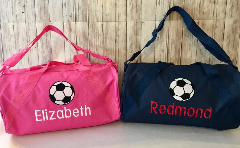 ff9b2fa6a Soccer Duffel Bag Personalized Soccerball embroidered duffle | Etsy