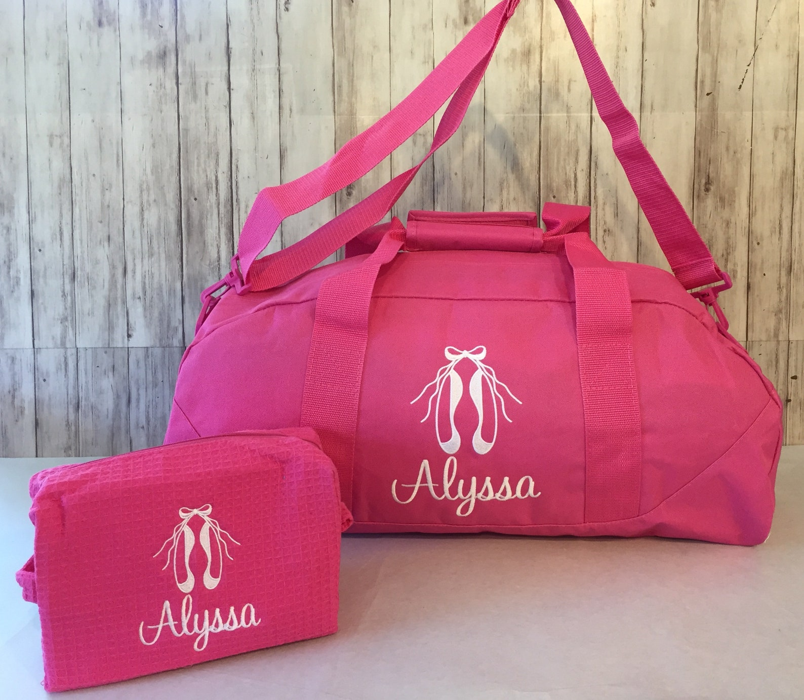 duffle bag/personalized duffle bag /ballet bag/ dance duffle/ ballerina duffle/ girls ballet bag set/ballet shoes duffel