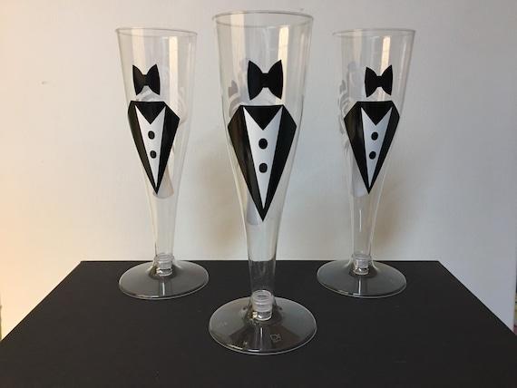 Wedding champagne flutes,plastic/Set of 25-Free Shipping