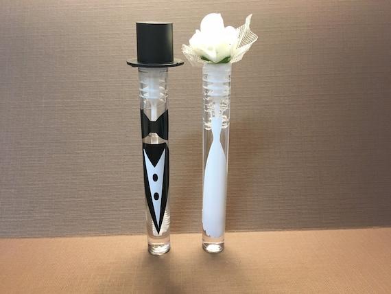 Bride and Groom Wedding Bubbles Set