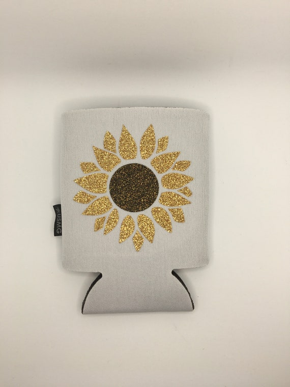 Sunflower Can Cozy Personalized