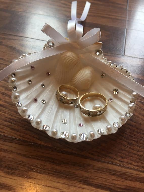 Seashell ring-bearer ring-holder-FREE SHIPPING