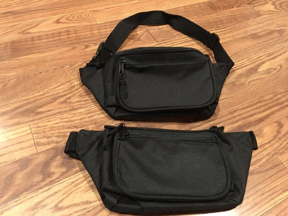 Three zipper polyester fanny pack-set of 2