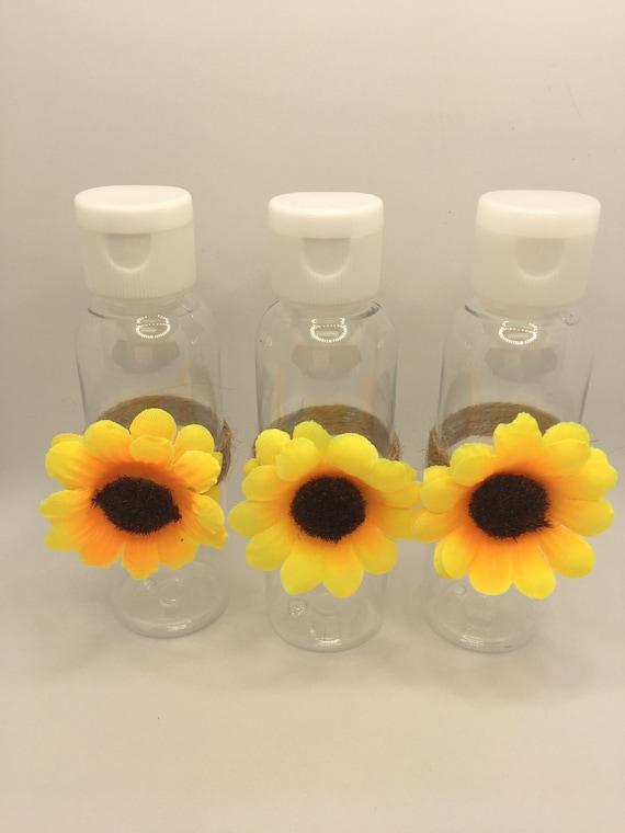 Sunflower hand sanitizer bottle-EMPTY