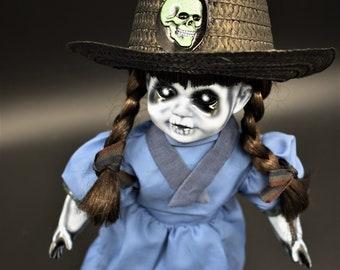 """Letha 14"""" OOAK Porcelain Horror Doll"""