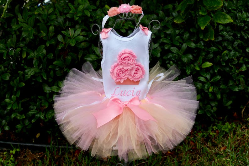 276274987 Peach and Pink Birthday Girl 3 Piece Outfit Onesie with Peach | Etsy