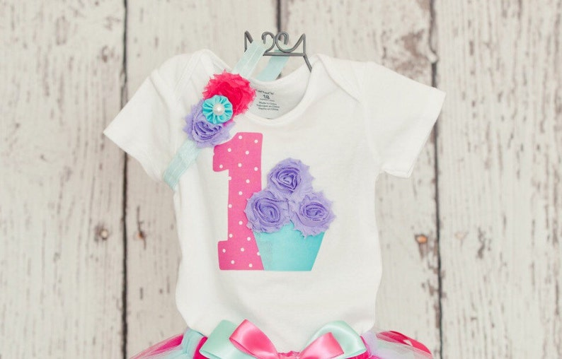 ffde8a4350ef4 Baby Girl 1st Birthday Onesie or T-Shirt w/ Hot Pink Polka Dot | Etsy