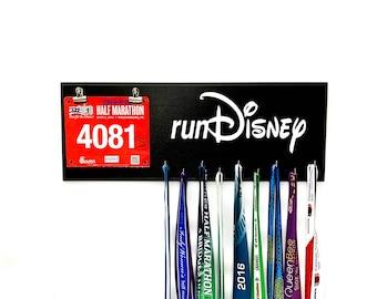 Run Disney - race bibs and running medal holder - race bib & medal display for Disney races