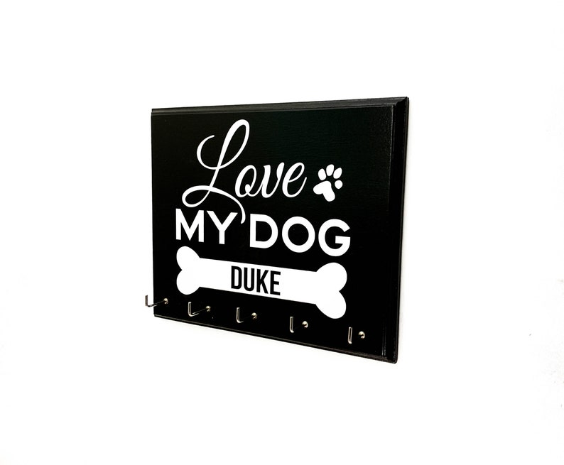 Love My Dog  Pet Dog Leash or Collar Holder image 0