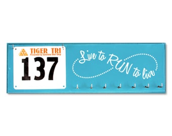 Running Medal and Bib Holder - Live to RUN to LIVE