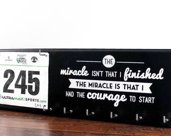 Running Medal Holder and Race Bib Hanger - The miracle race bib rack - Running medal rack race bib holder