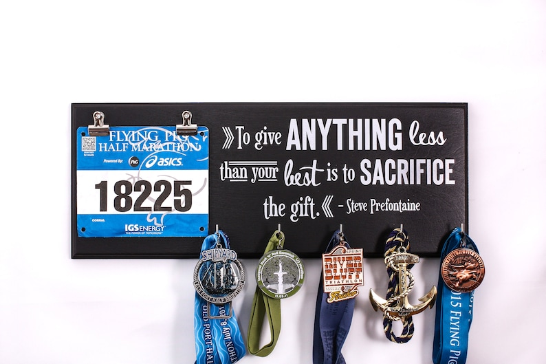 To give anything less  Steve Prefontaine  Running Medal image 0