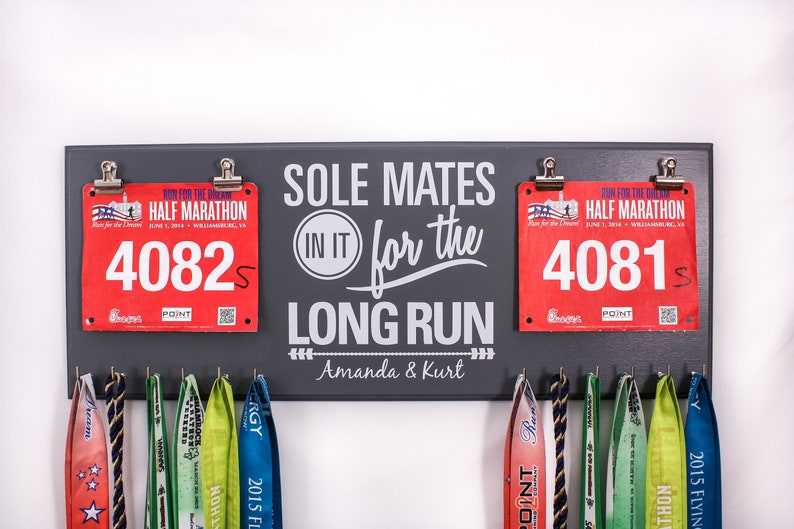 SOLE Mates in it for the Long Run  Double race bib rack and image 0
