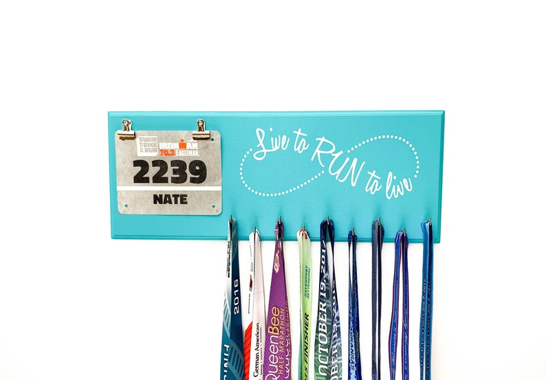 Live to Run Run to Live  Medal Holder and Race Bib Hanger  image 0