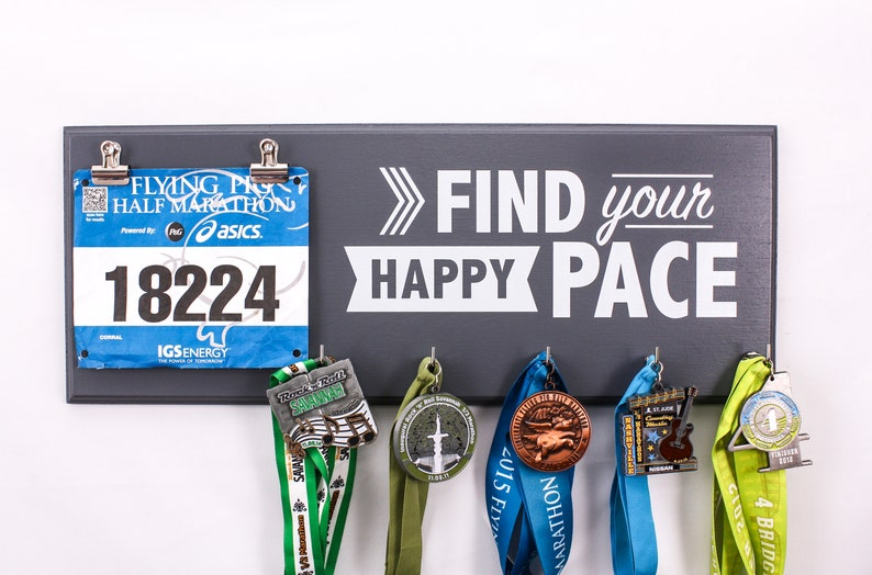 Find Your Happy Pace  Medal and Bib Holder medal holders  image 0