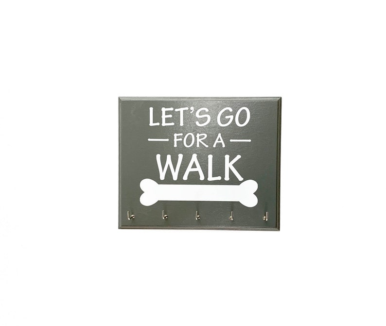 Let's Go For A Walk  Pet Dog Leash or Collar Holder image 0