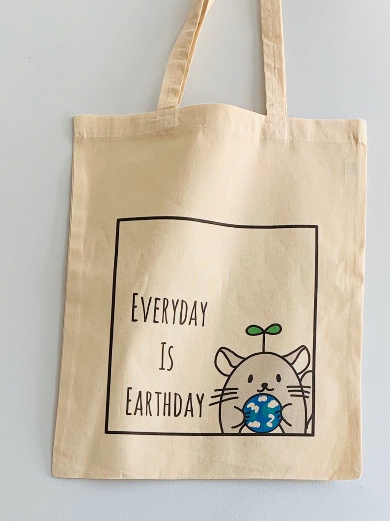 Reusable tote bag with Chinchilla Minny image 0