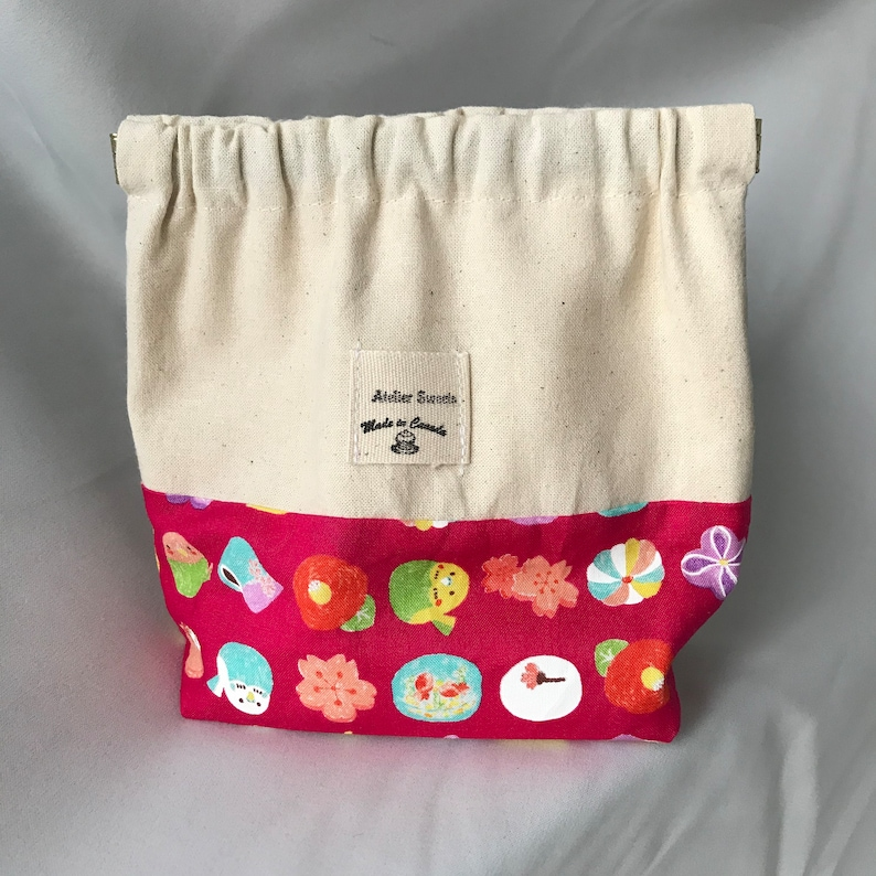Bane-guchi Spring Mouth With Japanese Sweets Pattern pouches image 0