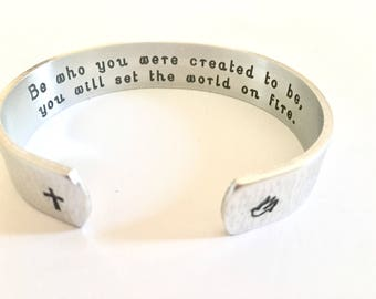 Confirmation sponsor gift, Godmother Gift - Sponsor Confirmation Gift, Baptism gift,Personalized Bracelet, Godparent Gift by TheSilverSwing