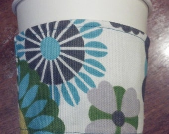 Hippy Chic Reversible Coffee Cozy