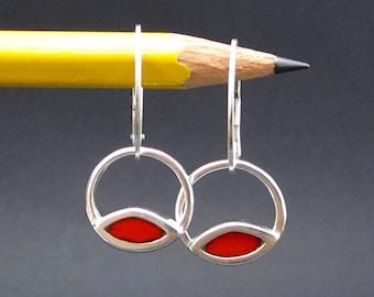 Enamel Earrings in Three Color Options - Venn Diagram Earrings - New Century Modern Jewelry