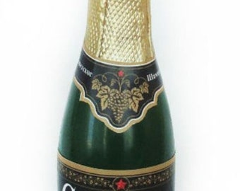 Silicone soap mold Bottle of champagne