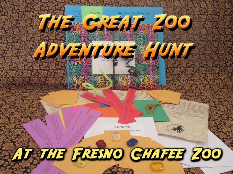 Scavenger Hunt  Fresno Chaffee Zoo Adventure Hunt  The Great image 0