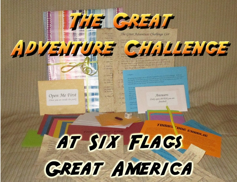 Scavenger Hunt Adventure  Six Flags Great America  The Great image 0