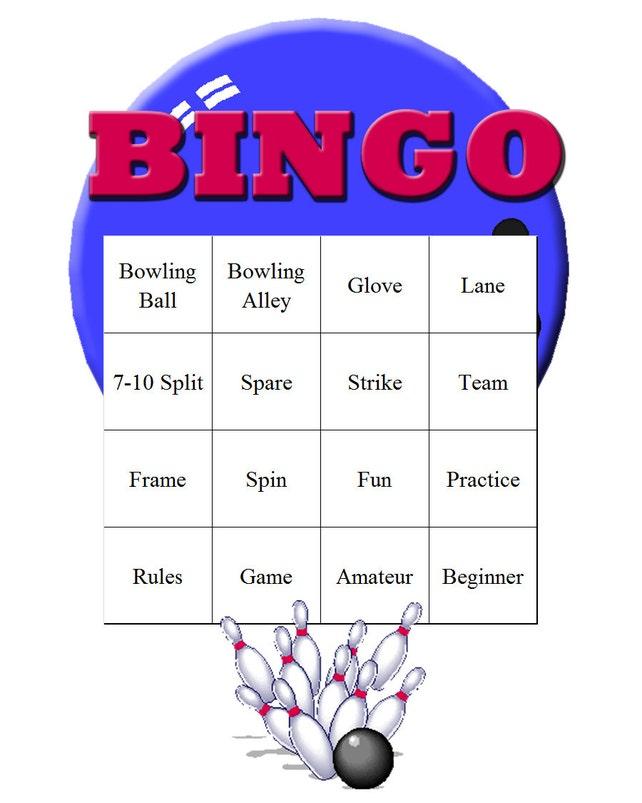 Bowling Themed Bingo Set | Etsy