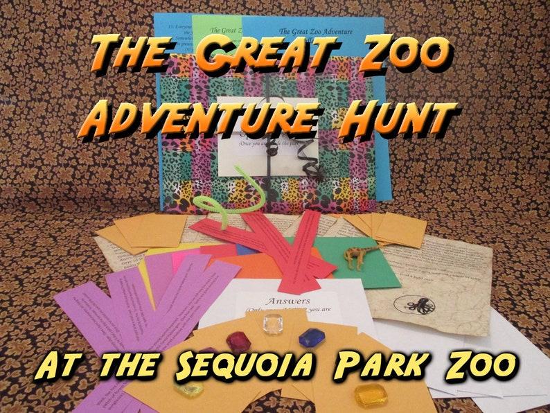 Scavenger Hunt  Sequoia Park Zoo  Adventure Hunt  The Great image 0