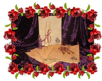 White Rabbit Paper - Antiqued Fairytale Paper - 10 Sheets