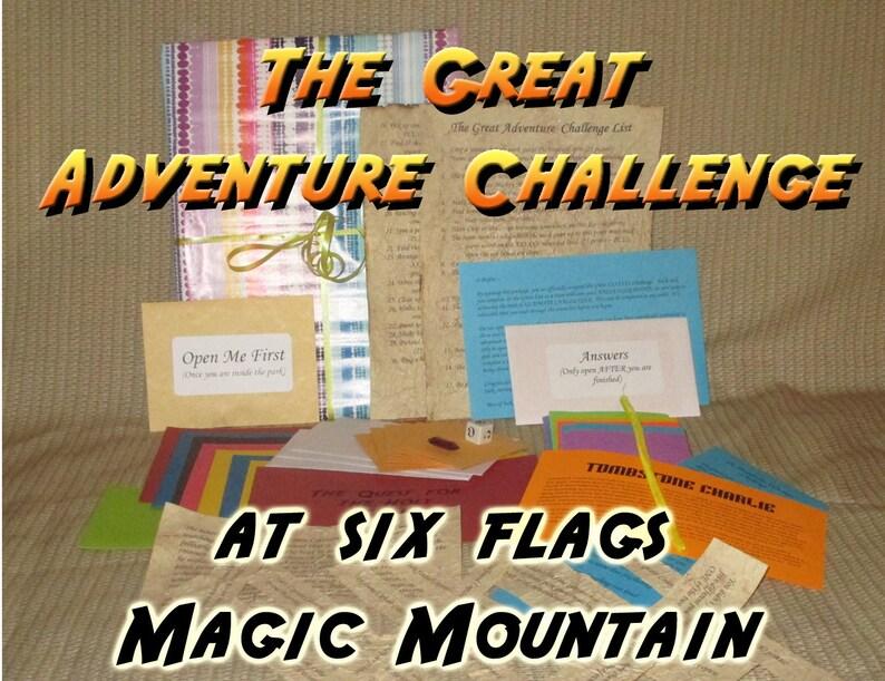 Scavenger Hunt Adventure  Six Flags Magic Mountain  The image 0