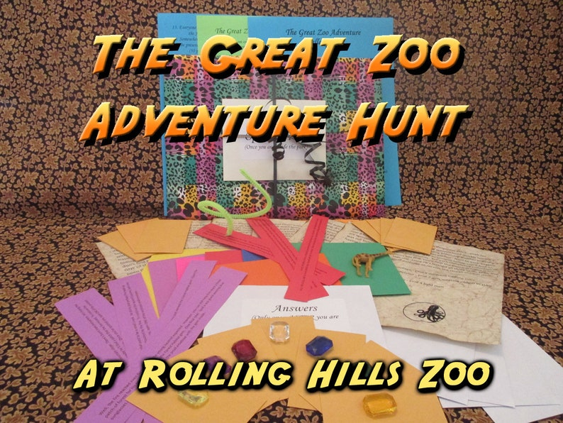 Scavenger Hunt  Rolling Hills Zoo Adventure Hunt  The Great image 0