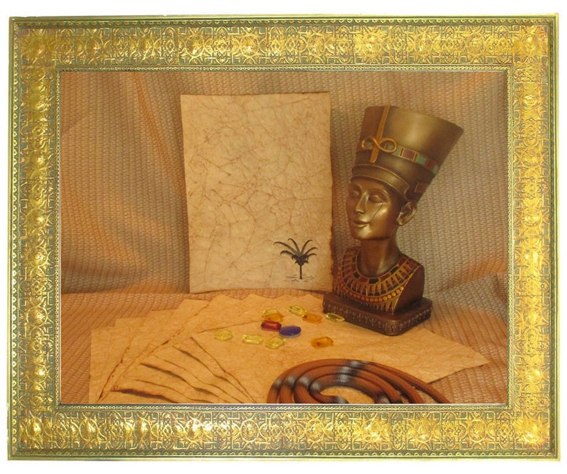 Egyptian Palm Paper  Antiqued Paper  10 Sheets image 0