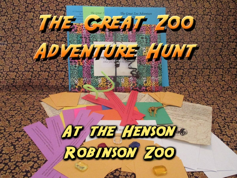 Scavenger Hunt  Henson Robinson Zoo Adventure Hunt  The image 0