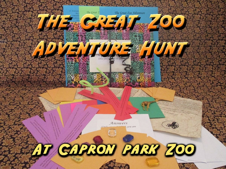 Scavenger Hunt  Capron Park Zoo Adventure Hunt  The Great image 0