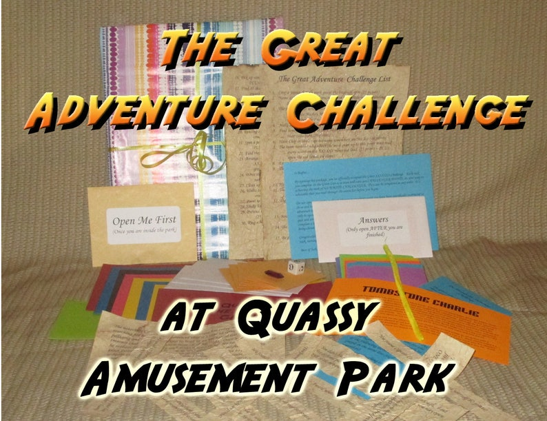 Scavenger Hunt Adventure  Quassy Amusement Park  The Great image 0