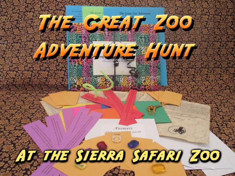 Scavenger Hunt  Sierra Safari Zoo Adventure Hunt  The Great image 0