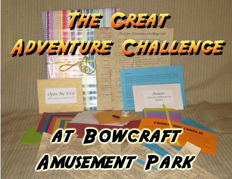 Scavenger Hunt Adventure  Bowcraft Amusement Park Scotch image 0