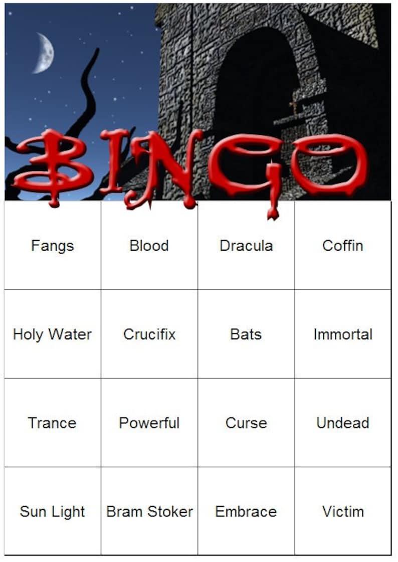 Vampire Themed Bingo Set image 0