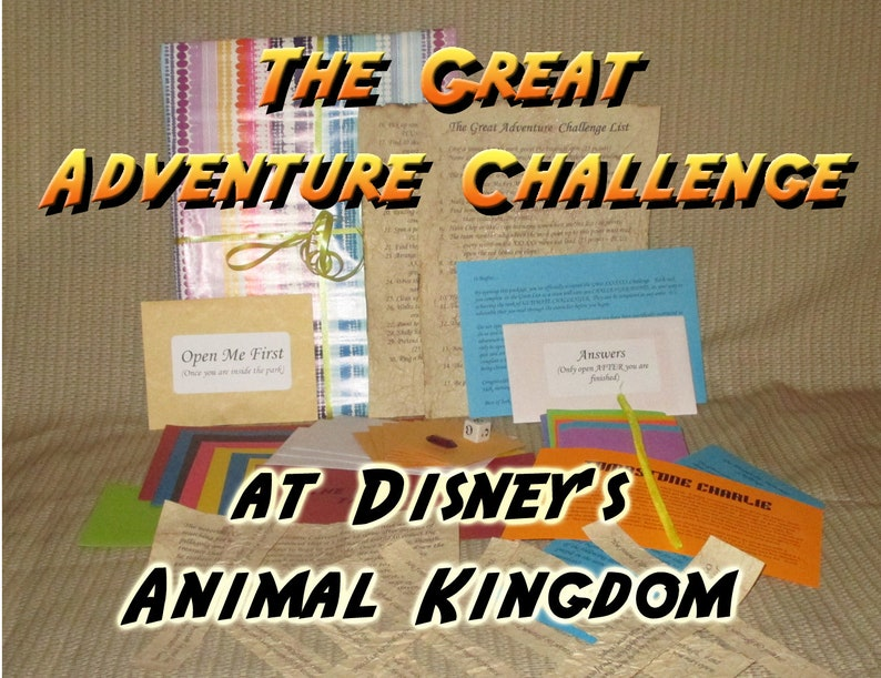 Scavenger Hunt Adventure  Disney's Animal Kingdom  The image 0