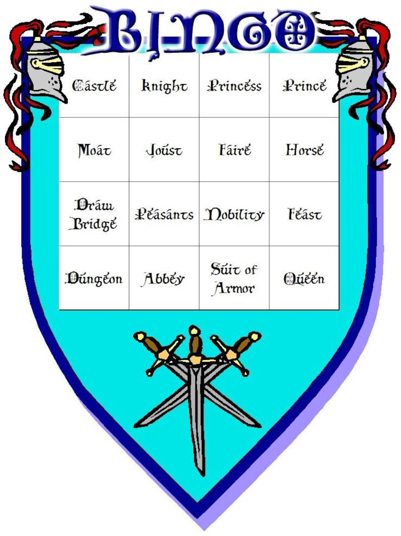Medieval Themed Bingo Set image 0