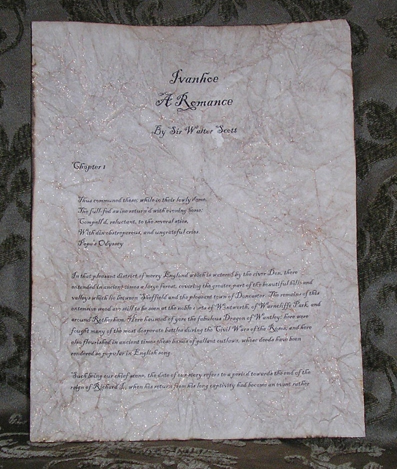 Ivanhoe  Antiqued reproduction of first page image 0