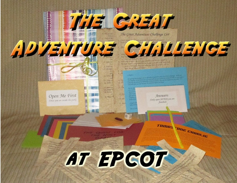 Scavenger Hunt Adventure  EPCOT  The Great Adventure image 0