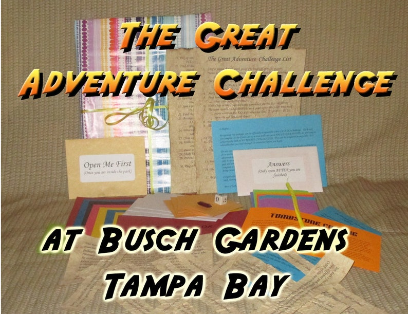 Scavenger Hunt Adventure  Busch Gardens Tampa Bay  The Great image 0