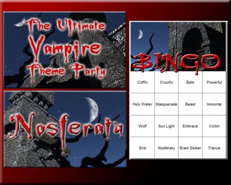 3 Vampire Party Downloads  Vampire Bingo A Vampire Party image 0